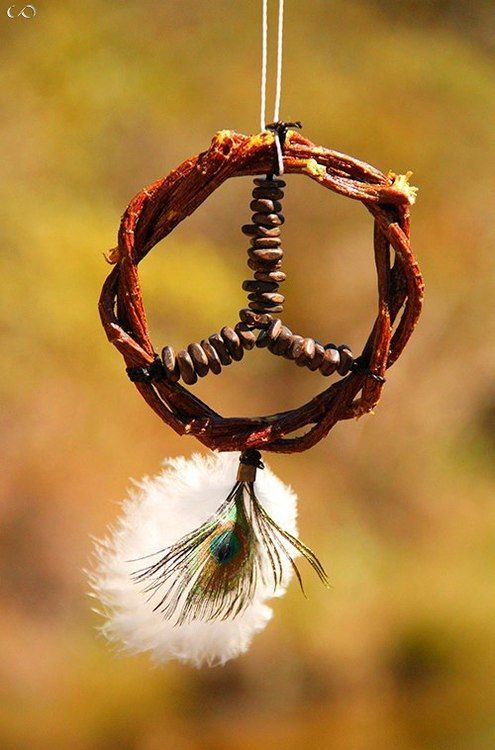 Peace sign dream catcher! =) via | www.hippieshope.com