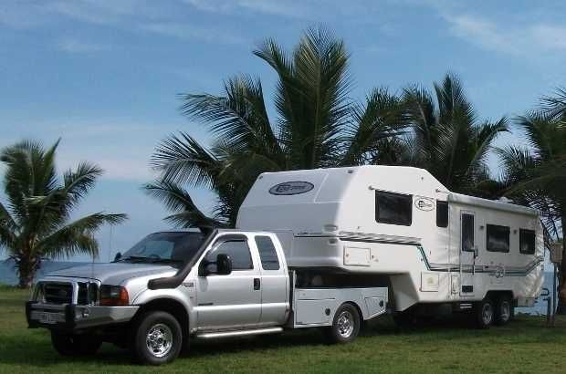Fully Australian Built & Designed. Fibreglass 1 piece exterior-full annex & floor - full height bedroom-dbl island bed-full ensuite-12v 190lt 2 door fridge/freezer -2 LCD TV's-radio DVD player–2 recliners-sat dish-4 solar panels-onan auto generator-front load w/m- new tyres- rego 4-2015-heaps more 2004 F250 4x4 7.3lt diesel-many extras-custom made back with tools boxes.Will separate if van sold first. can email more photos sueian.reid9@hotmail.com ph 0409641120 $120,000.00 AUD