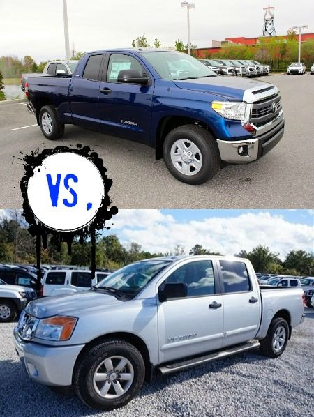 See how the 2015 Toyota Tundra in Orlando stacks up against the new NIssan Titan!   http://blog.toyotaoforlando.com/2015/03/were-pitting-the-2015-toyota-tundra-against-the-nissan-titan/