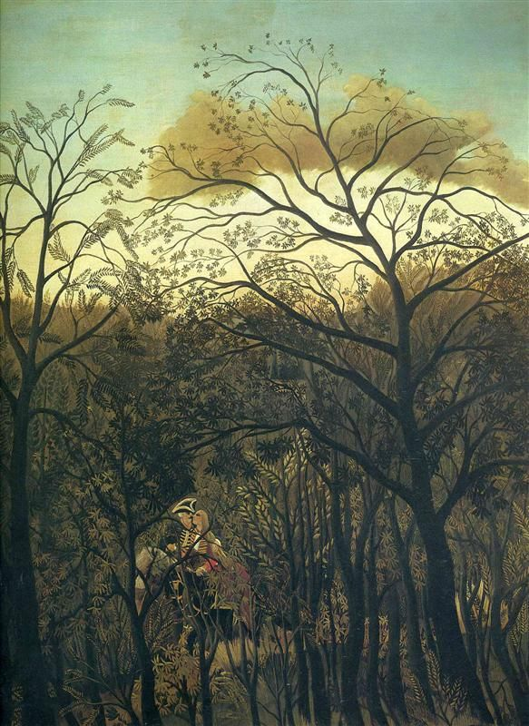 Rendez Vous in the Forest 1886 - Henri Rousseau                                                                                                                                                                                 Mais