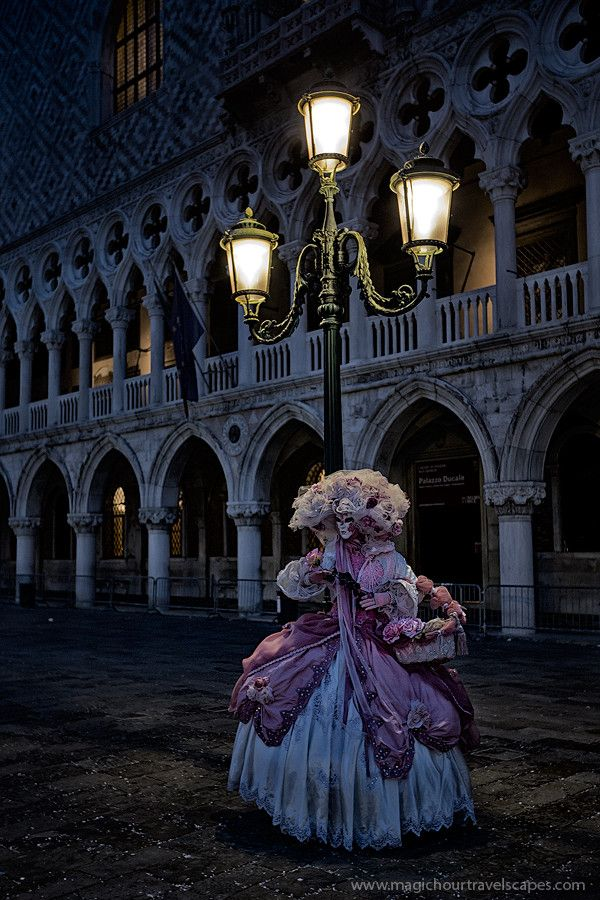 Photo Gothic Carnevale by Kah Kit Yoong on 500px Dawn at Piazza San Marco but the low lighting suggests a darker hour. Effective use of the promenade as background. Moody and evocative.