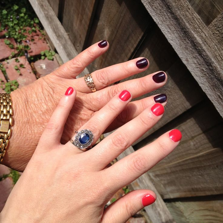My mum and I had our nails done for the first ever! So pretty and relaxing too