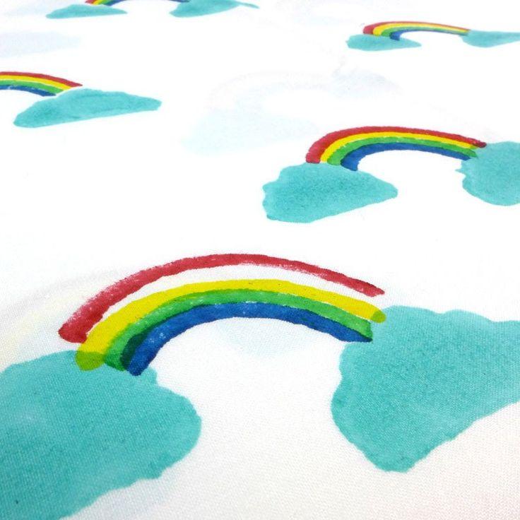 Rainbow cotton fabric - Lulu and Nat £19.50 per metre