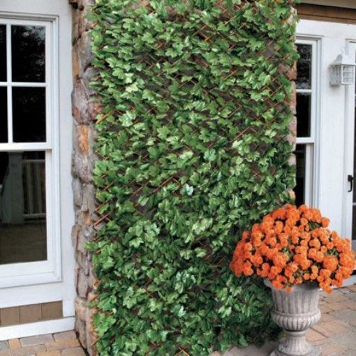 Windscreen4less Expandable Artificial Leaf Leaves Faux Ivy Privacy Fence Screen #Windscreen4less