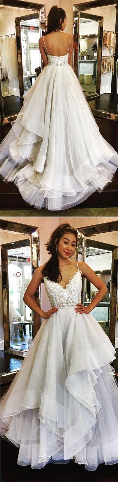 A Line Sweep Train Sweetheart Spaghetti Sleeveless Mid Back Appliques Ruffles Wedding/Prom Dress P67 Long Prom Dresses,Cheap Prom Dress,Party Dresses,Prom Gowns,Gowns Prom,Evening Dresses,Cheap Prom Dresses,Dresses for Girls,Prom Dress UK,Prom Suit,Prom Dress Brand,Prom Dress Store, Party Dress