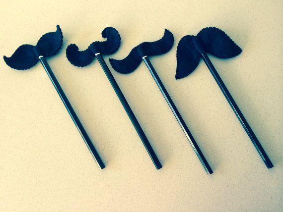Moustache pencil topper on Etsy, £1.50