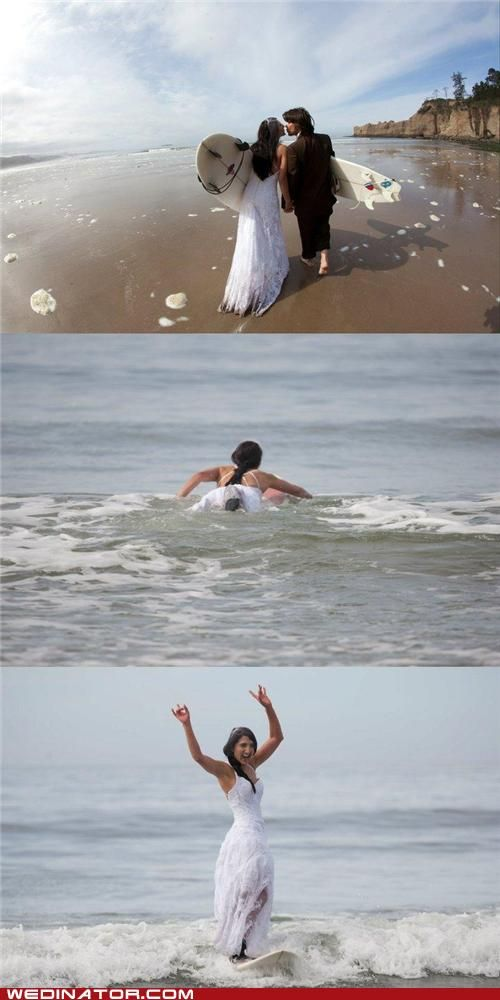 Great Trash the Dress photo shoot!