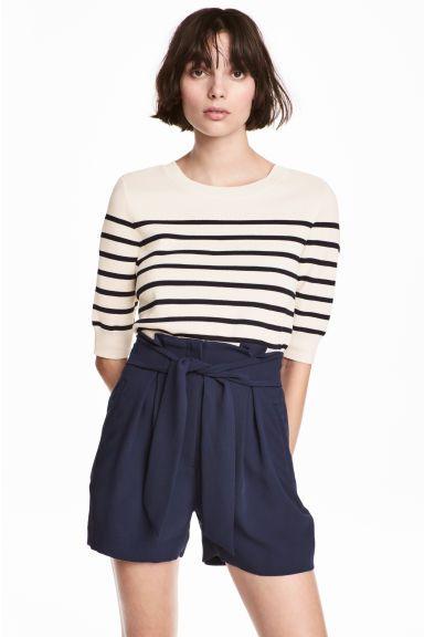 Pantaloni scurți eleganți - Albastru-închis - FEMEI | H&M RO 1