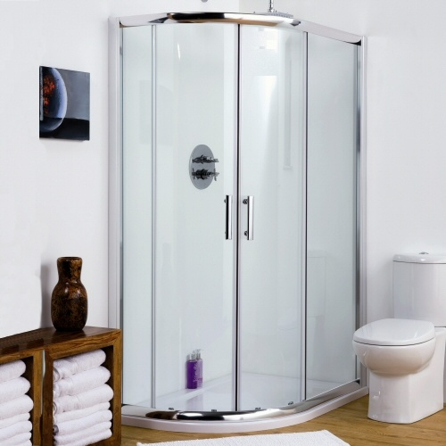 Offset Quadrant Shower Enclosure Amp Shower Tray Bathroom