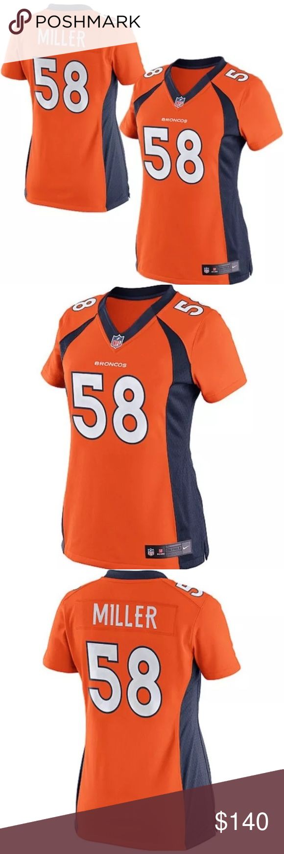 Von Miller Limited Broncos Jersey for Women Women Cut. Brand new with tags. Orange limited jersey. Price is firm!  ✖️Trade Nike Tops