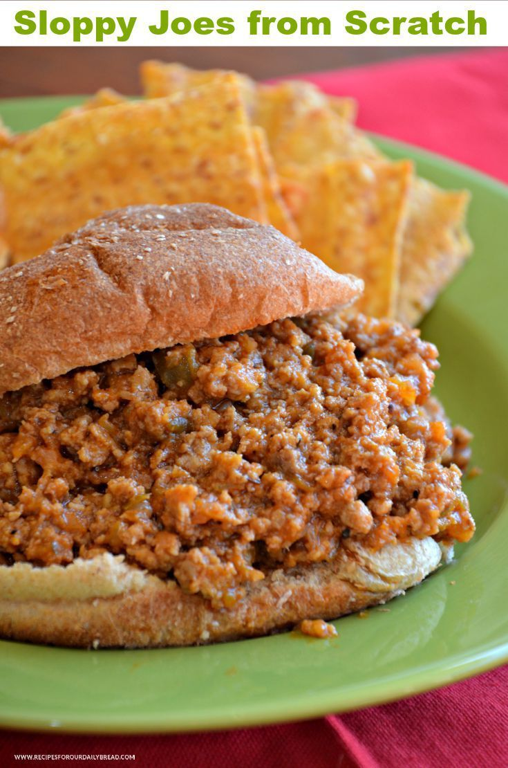 SLOPPY JOES FROM SCRATCH MAKE CHILDHOOD MEMORIES  PRINT RECIPE HERE: http://recipesforourdailybread.com/sloppy-joes-from-scratch/