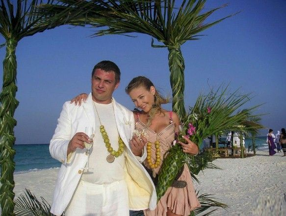 Maldives beach wedding bouquet