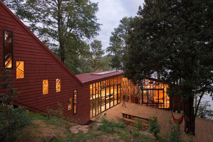 Проект дома, выполненный архитектором Sebastian Irarrazaval.