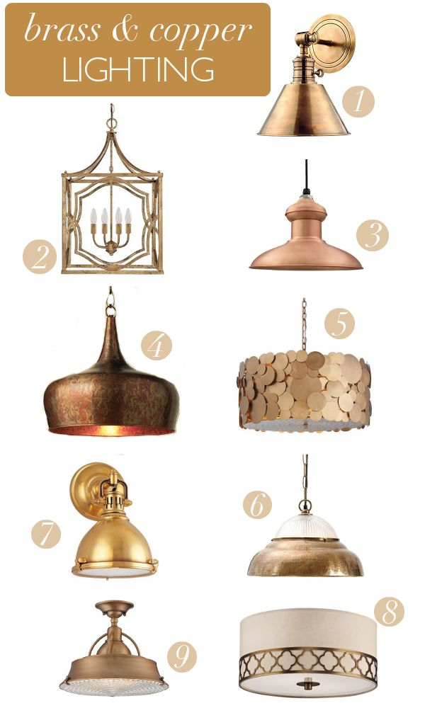 Affordable brass & copper light fixtures via Megan Brooke Handmade