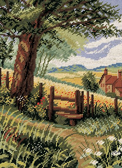 needlepoint houses and landscape | This is a beautiful, colourful tapestry kit from Twilley's of Stamford ...