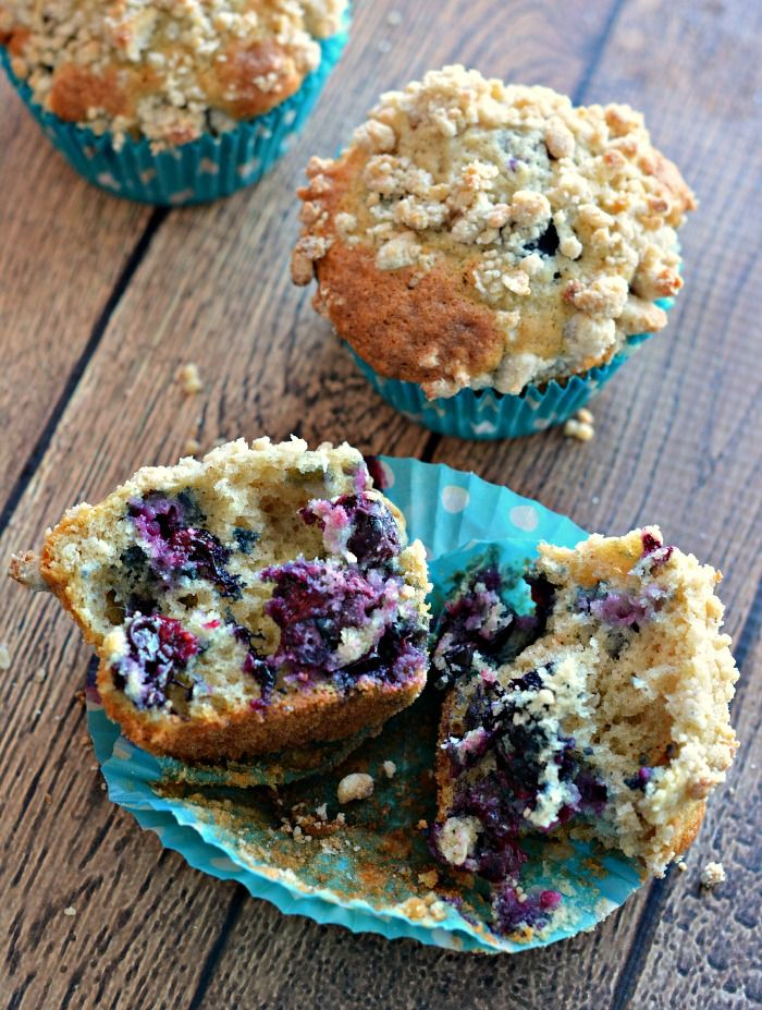 Very Blueberry Muffins with Lemon Streusel Topping Recipe #littlechanges #spon