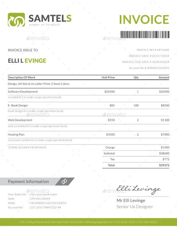 Invoice Bundle Template Volume 2 Invoice Template Invoice Design Templates