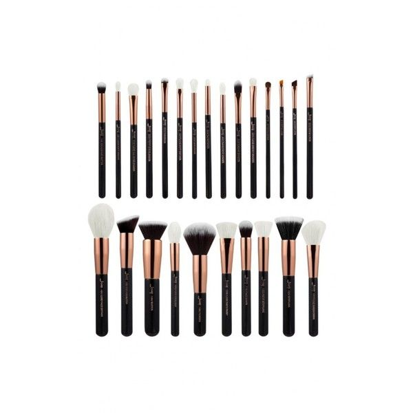 Makeup Brush Set in black and rose gold 25 pc ($47) ❤ liked on Polyvore featuring beauty products, makeup, … - Makeup brushes, Makeup brush set, Brush set - 웹