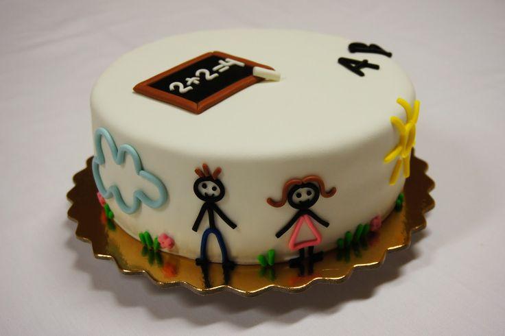 Menina Framboesa: back to school cake