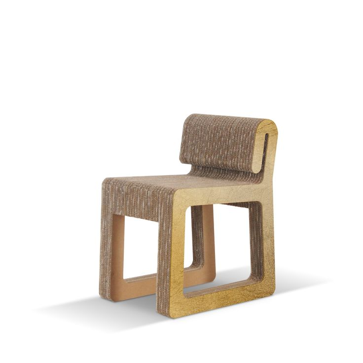 HOOK - Carton Factory Designer: Matteo Baroni & Sara Casati Misure: 40 X 53,5 X 66,5h  #cartonfactory #cardboard #ecodesign #cardboard #chair