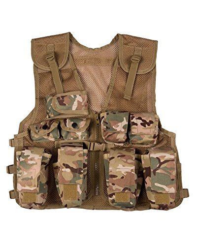 Kombat UK Kombat Kids Assault Vest Btp (Btp, One Size). Kombat Kids assault vest with multiple pockets for your army mad youngster. Available in one size only but one size fits most. Available for boys and girls!.