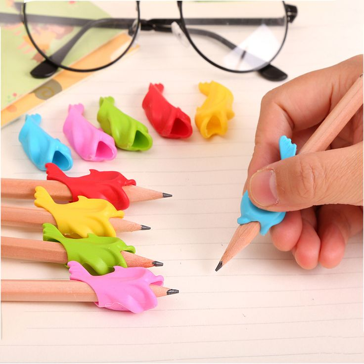 10Pcs Learning Partner Children Students Stationery Pencil Holding Practise Device For Correcting Pen Postures Grip