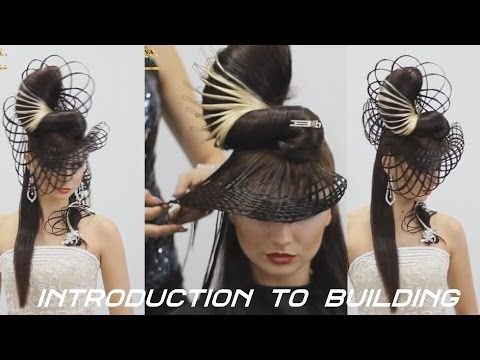 Ирина Агрба - Женская прическа на длинных волосах (высокая мода, подиумный стиль) Сочи - YouTube