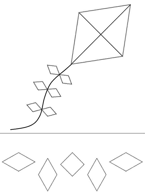 Diamond Shape Diamond Shape Kite Coloring Pages