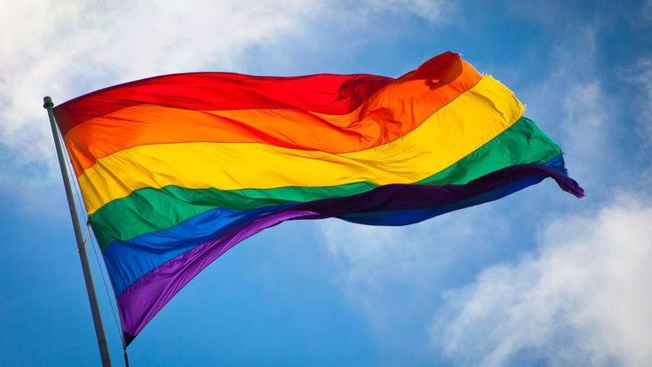 Gay Pride Rainbow Flag.