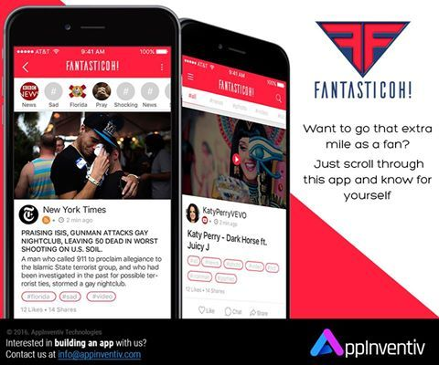 Let's admit that we all are #fans of someone or the other. Meet #Fantasticoh, an #app that let's you to have a glimpse of all your #favorite #celebrities and #channels. #MobileApp #AppInventivDesign