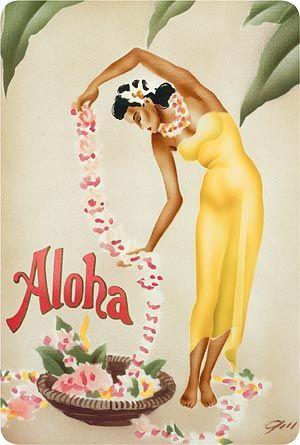 Leimaker - Hawaiian Vintage Postcard