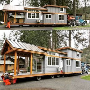Tiny house with porch