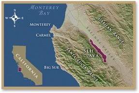 Santa Lucia Highlands | California Winemaking | SLH Appelation | Santa Lucia Highlands ~ Worked in this area last week. What a unique, beautiful wine region!