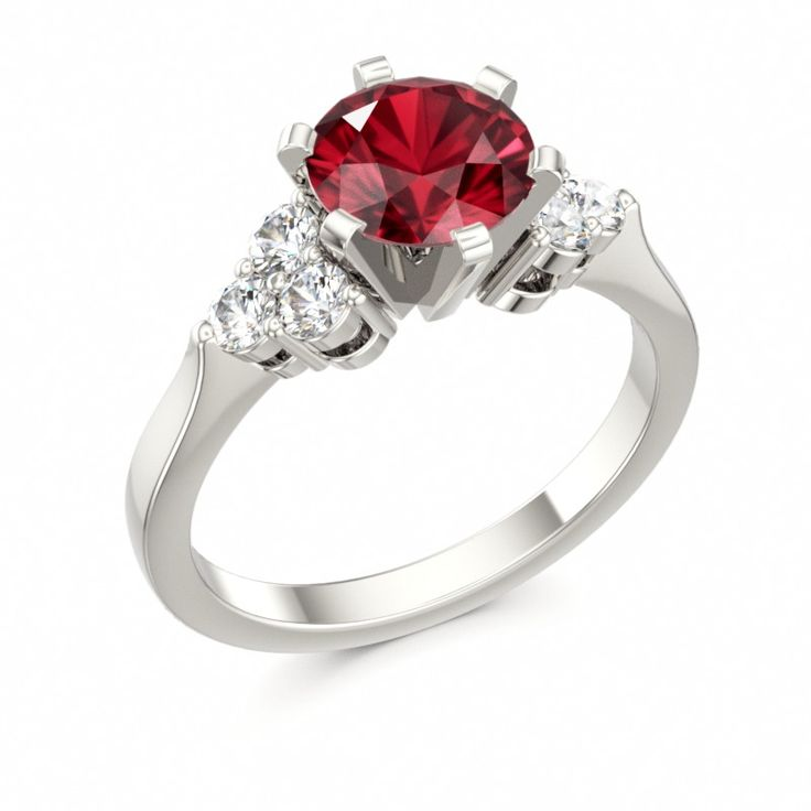 ruby engagement ring divine crystals with diamonds ruby engagement ring - Ruby Wedding Ring