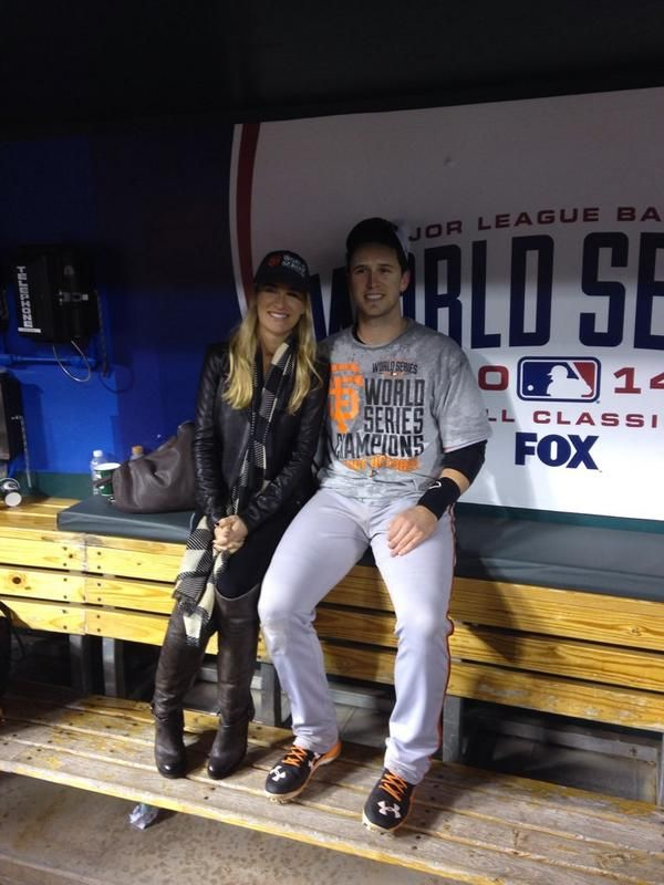 ⚾️ S.F. Giants 2014 World Series Champions ⚾️ -- Buster Posey and his wife
