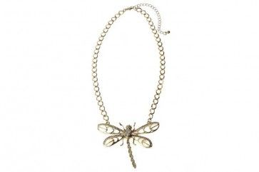 Gold Metal Diamante Dragonfly Pendant  Don't Forget your discount code FB10 to get 10% off your 1st order