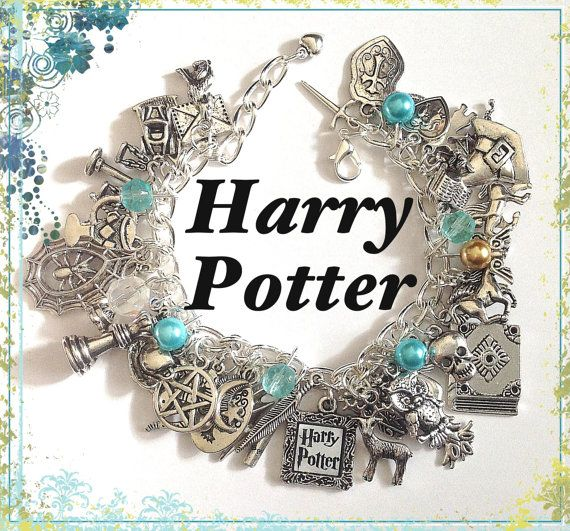 Harry Potter Jewelry Charm Bracelet Silver by princessofscraps, $35.99. @Danielle Hanchey Kiser this is so you