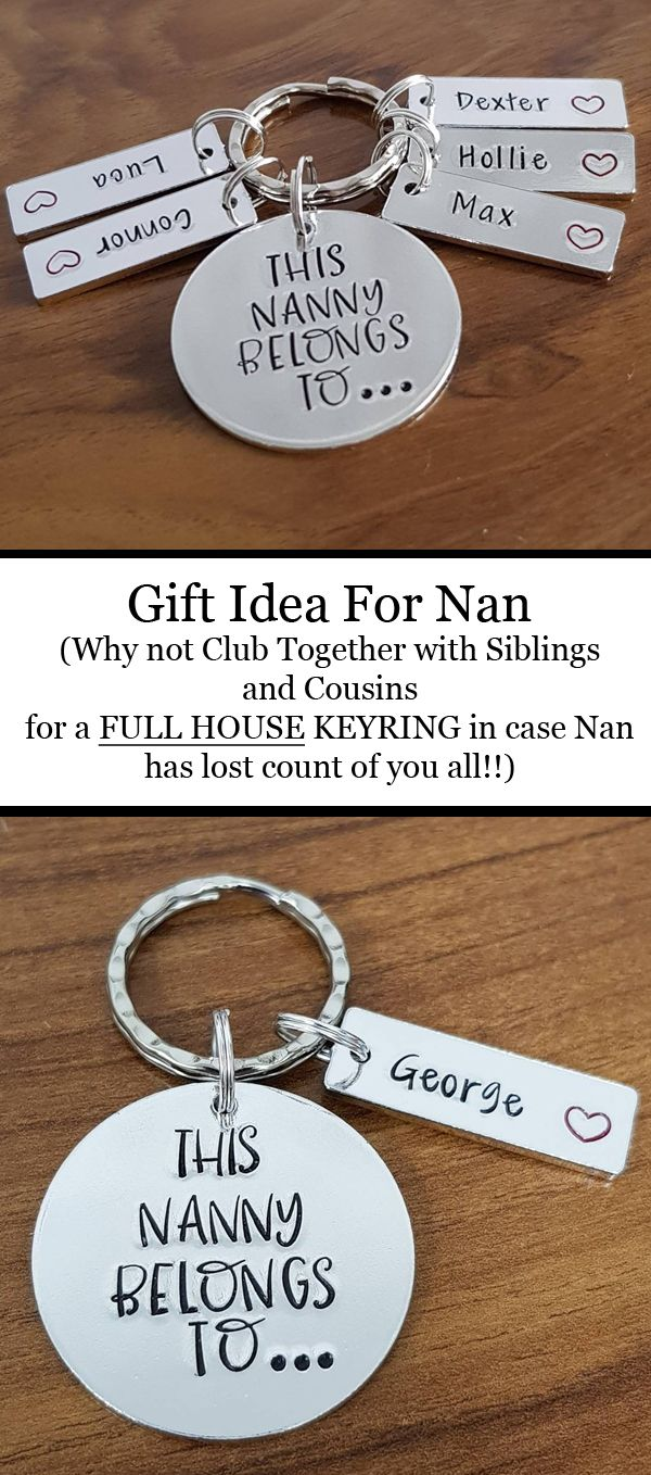 This Nanny Belongs To Keyrings Gift Ideas Christmas Gifts Grandma Will Love Nana Mothers Day Birthday