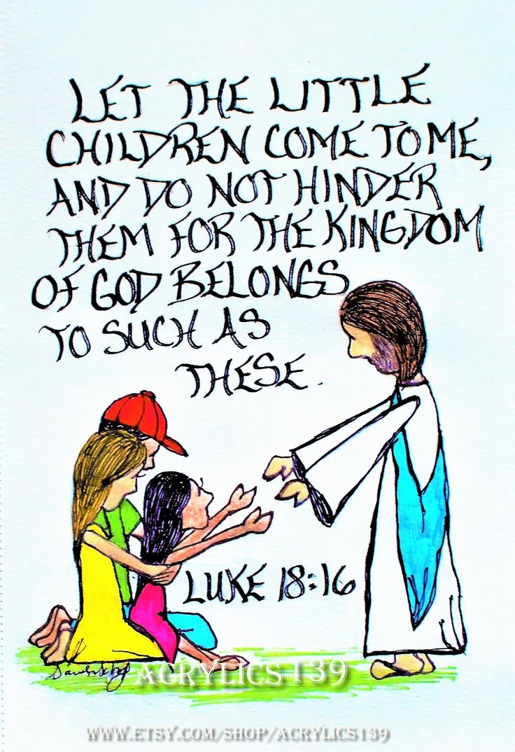 """""""Let the little children come to me, and do not hinder them, for the kingdom of God belongs to such as these."""" Luke 18:16 (Scripture doodle of encouragement, Bible art journaling, Bible study, Sunday School, Children's Church, Youth Group, VBS, Women's Ministy, Men's ministry, Bible Camp, Devotional, Women's Retreat, Men's Retreat)"""