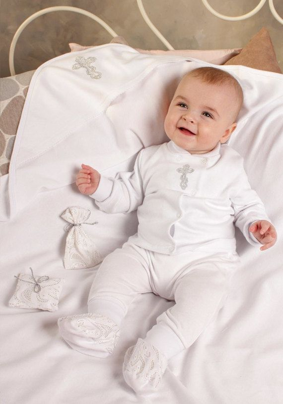 Baby boy baptism outfit, Baby boy clothes, Baptism outfit for boy, Handmade christening gift, baby boy white suit, Baby set, Three Snails