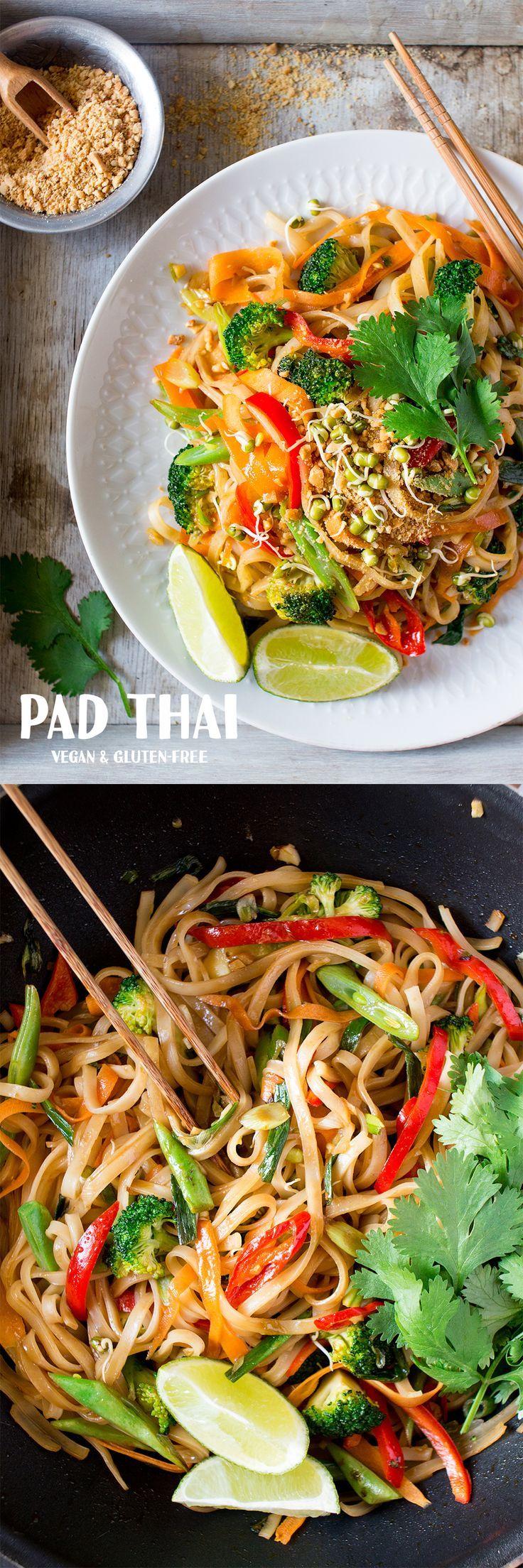 Dieses vegane und glutenfreie Pad Thai macht ein e…