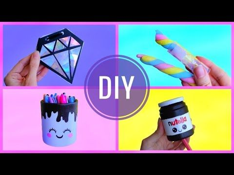 DIY DECORA TU CUARTO O HABITACIÓN | 4 Ideas de manualidades para decorar - YouTube