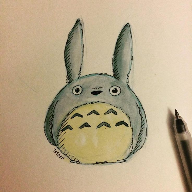 Totoro watercolour and pen and ink! :)