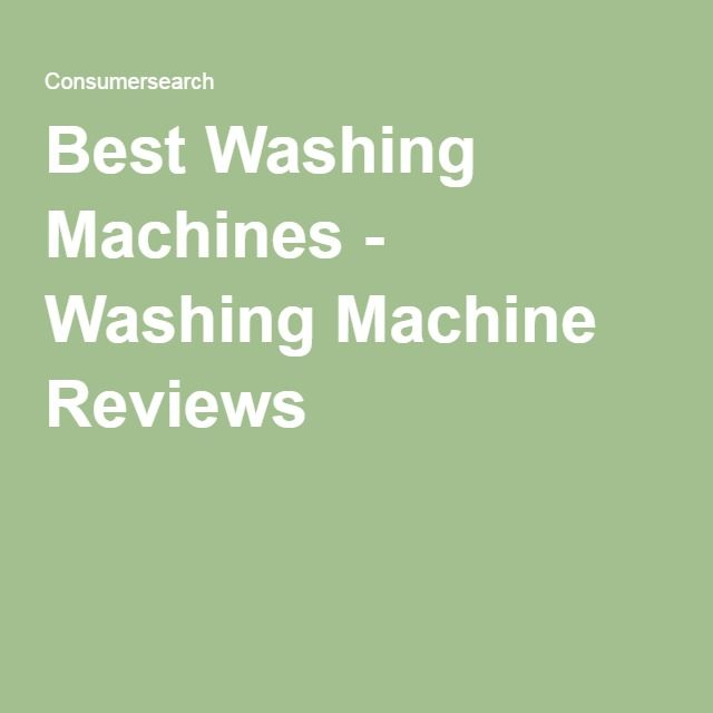 the best washing machine reviews