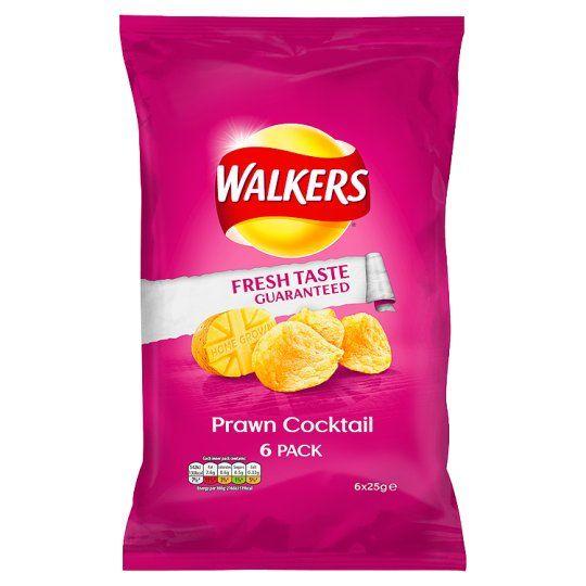 Walkers Prawn Cocktail Crisps 6X25g