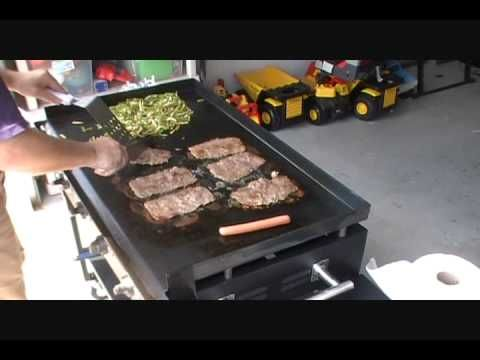 philly sliders on the Blackstone - YouTube