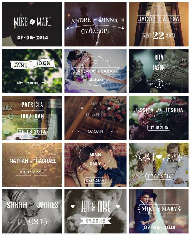 After Effects Project Files - Wedding Typography Titles – Dates and Names | VideoHive