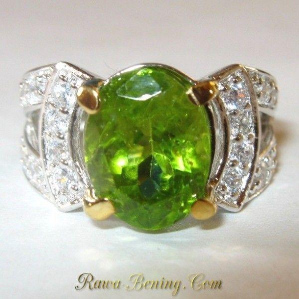 Promo Cincin Wanita Permata Peridot 2.50 carat Silver 925 Ring 6 US