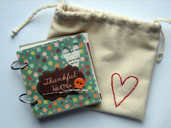 Gratitude Journal, adorable little bag to keep your journal in.