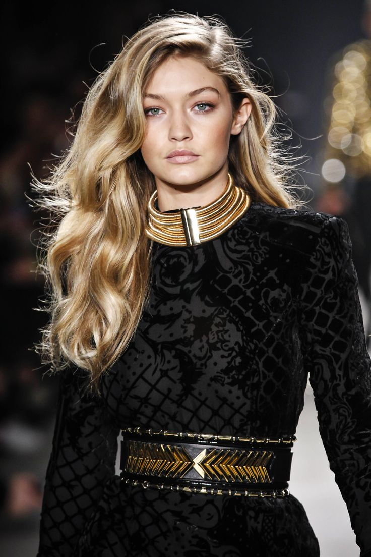 Gigi Hadid - Beauty at Balmain x H&M Fashion Show.